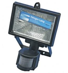 Halogeni reflektor sa senzorom crni