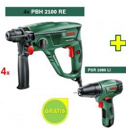 Hamer bušilica Bosch PBH 2100 RE + Aku bušilica Bosch PSR 1080 LI