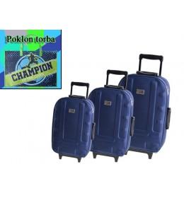 Set kofera 3/1 Sazio Havana tamno plava boja + poklon torba