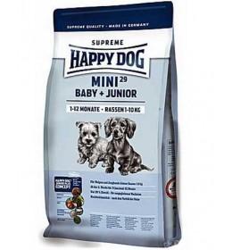 Hrana za štence Happy Dog Mini Baby & Junior 29 pak. 4kg + 1kg GRATIS