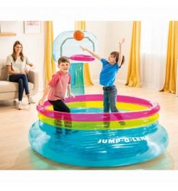 Jumpolina za decu sa košem i loptom