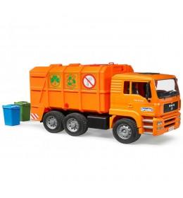 Kamion đubretarac MAN narandžasti Bruder 027605