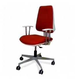 Kancelarijska stolica M 201 bela asin/pvc/hrom