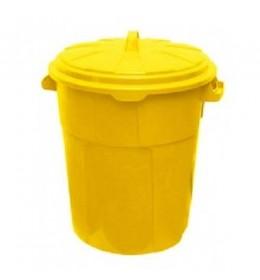 Kanta za otpatke sa poklopcem Duo 90 L žuta