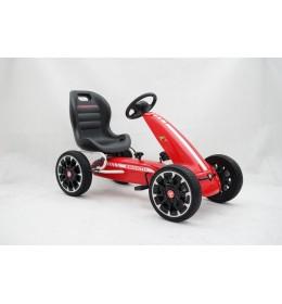 Karting - Formula Abarth na pedale crveni sa mekim gumama
