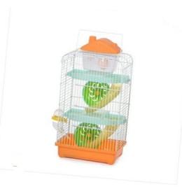 Kavez za hrčka H-004H bela i narandžasta