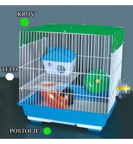 Kavez za hrčka H-5 bela i zelena