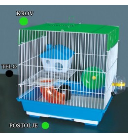 Kavez za hrčka H-5 crna i zelena