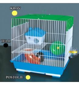 Kavez za hrčka H-5 crna i žuta