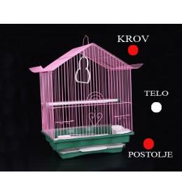 Kavez za ptice 102 bela i crvena