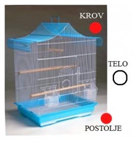 Kavez za ptice A4020 bela i crvena