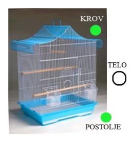 Kavez za ptice A4020 bela i zelena