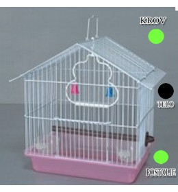 Kavez za ptice W033 zelena i crna
