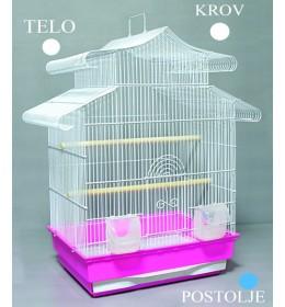 Kavez za ptice W811 bela i plava