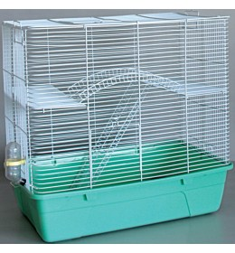 Kavez za zeca 446 bela i zelena