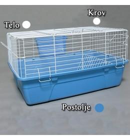 Kavez za zeca 61cm bela i plava
