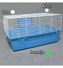Kavez za zeca 61cm bela i zelena