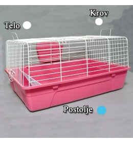 Kavez za zeca 71cm bela i plava
