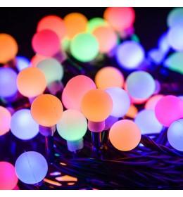 Novogodišnje lampice LED biserni niz 180 sijalica multi