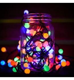 Novogodišnje lampice LED biserni niz 240 sijalica multi