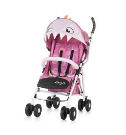 Kišobran kolica za bebe Ergo 6m+ Chipolino Pink Dino