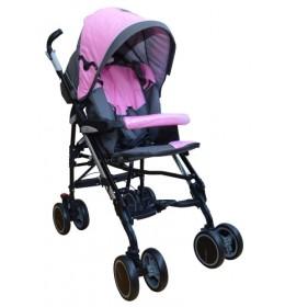 Kišobran kolica za bebe Puerri Tutto Completo sivo-roze