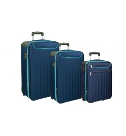 Set od tri kofera Brooklyn navy blue