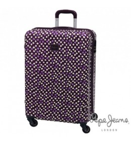 ABS set kofera 55/ 67 cm Purple Dot