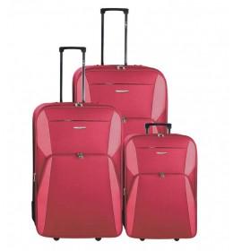 Set putnih kofera 55/65/75cm Enova Madrid Red