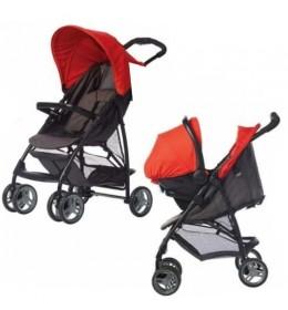 Dečija kolica + auto sedište Graco duo sistem Literider black/red