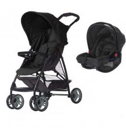 Dečija kolica + auto sedište Graco duo sistem Literider black/grey