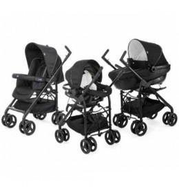 Kolica za bebe trio sistem (auto sedište + nosiljka + kolica) Chicco Sprint blacknight