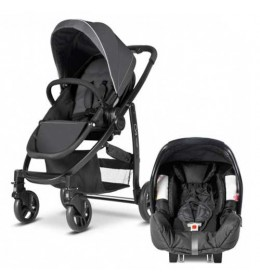 Dečija kolica + auto sedište Graco duo sistem Evo black grey