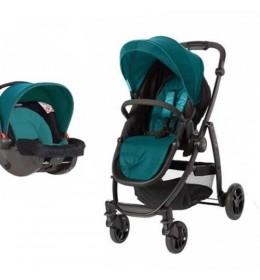 Dečija kolica + auto sedište Graco duo sistem Evo harbor blue