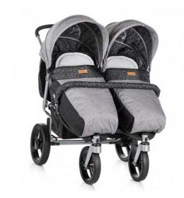 Kolica za blizance Chipolino Twix grey