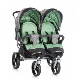 Decija kolica za blizance Chipolino Twix green