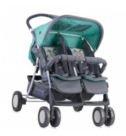 Kolica za Blizance Twin Green & Grey