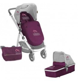 Dečija kolica Bertoni Evo 2u1 Violet Pink Flowers