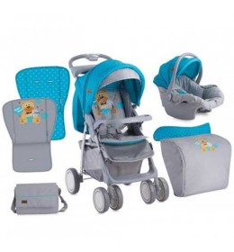 Kolica Foxy Set Blue & Grey Hello Bear