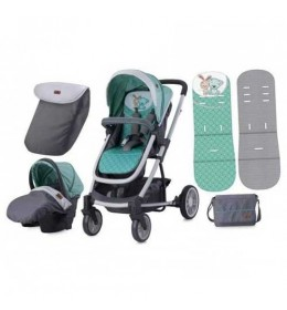 Kolica za bebe S-500 Set Grey & Green Friends