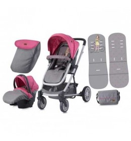 Kolica za bebe S-500 Set Rose & Grey Girl