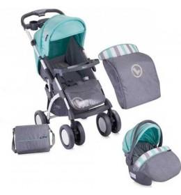 Dečija kolica Apollo Set Grey&Green