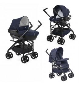 Kolica trio sistem (kolica+autosedište+nosiljka) Chicco Trio Sprint blue pass