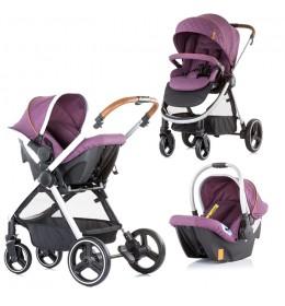 Kolica za bebe Baby stroller Prema 3 u 1 Chipolino 0+ Amethyst
