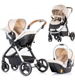 Kolica za bebe Baby stroller Prema 3 u 1 Chipolino 0+ Caramel