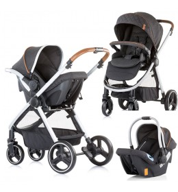 Kolica za bebe Baby stroller Prema 3 u 1 Chipolino granite grey