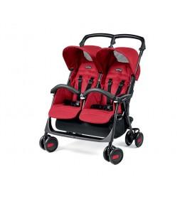 Kolica za blizance Aria Shopper Classico Mod red