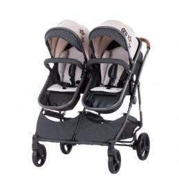 Kolica za blizance Chipolino Duo Smart Beige Graphite Linen