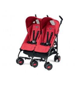 Kolica za blizance Pliko Mini Classico Twin Mod red