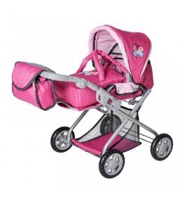 Kolica za lutke Kira pink butterfly